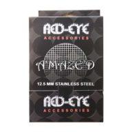 Caja 500 Rejillas de acero para pipas Amazed (12,5mm) | Red Eye