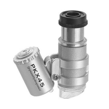 Mini Lupa Microscopio De Cultivo Con Led 45X