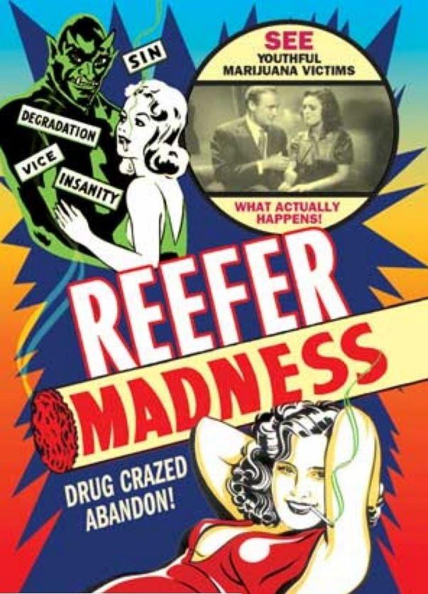 Carteles Vintage Cannabis Marijuana 01
