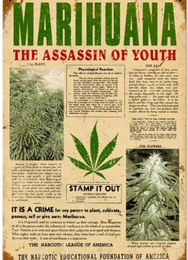 Carteles Vintage Cannabis Marijuana 13