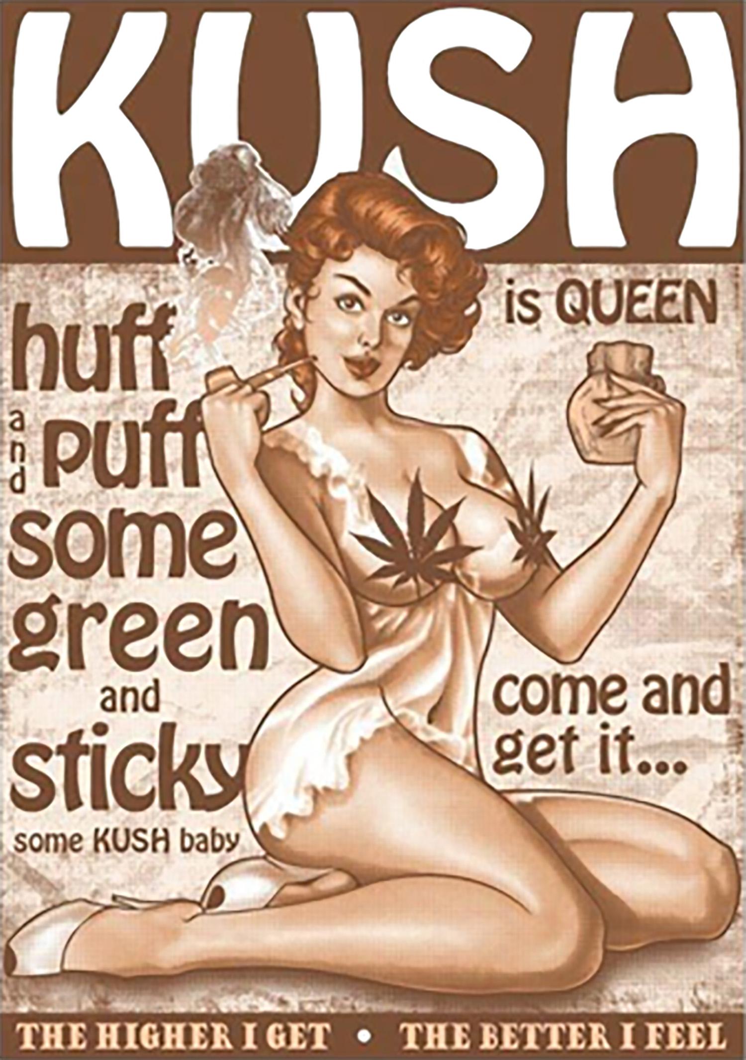 Carteles Vintage Cannabis Marijuana 14