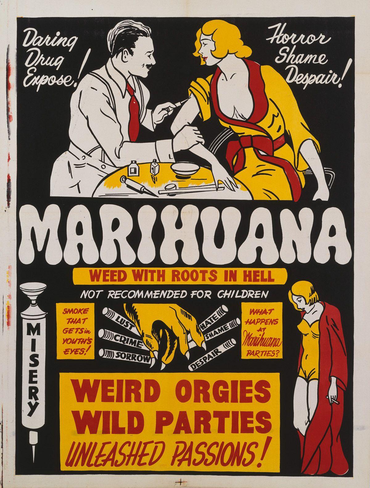 Carteles Vintage Cannabis Marijuana 17