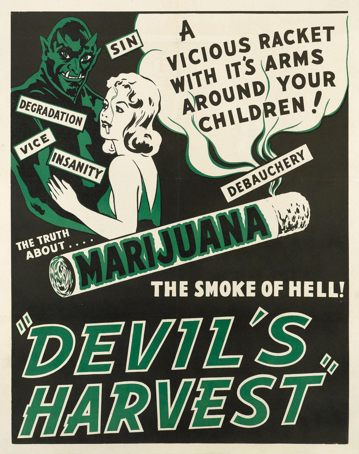 Carteles Vintage Cannabis Marijuana 26