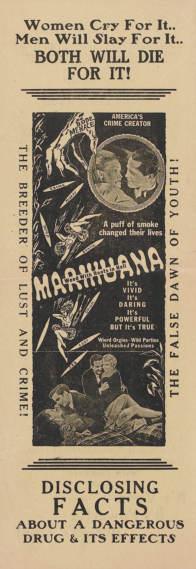 Carteles Vintage Cannabis Marijuana 30
