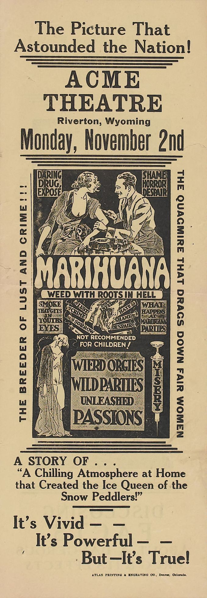 Carteles Vintage Cannabis Marijuana 31
