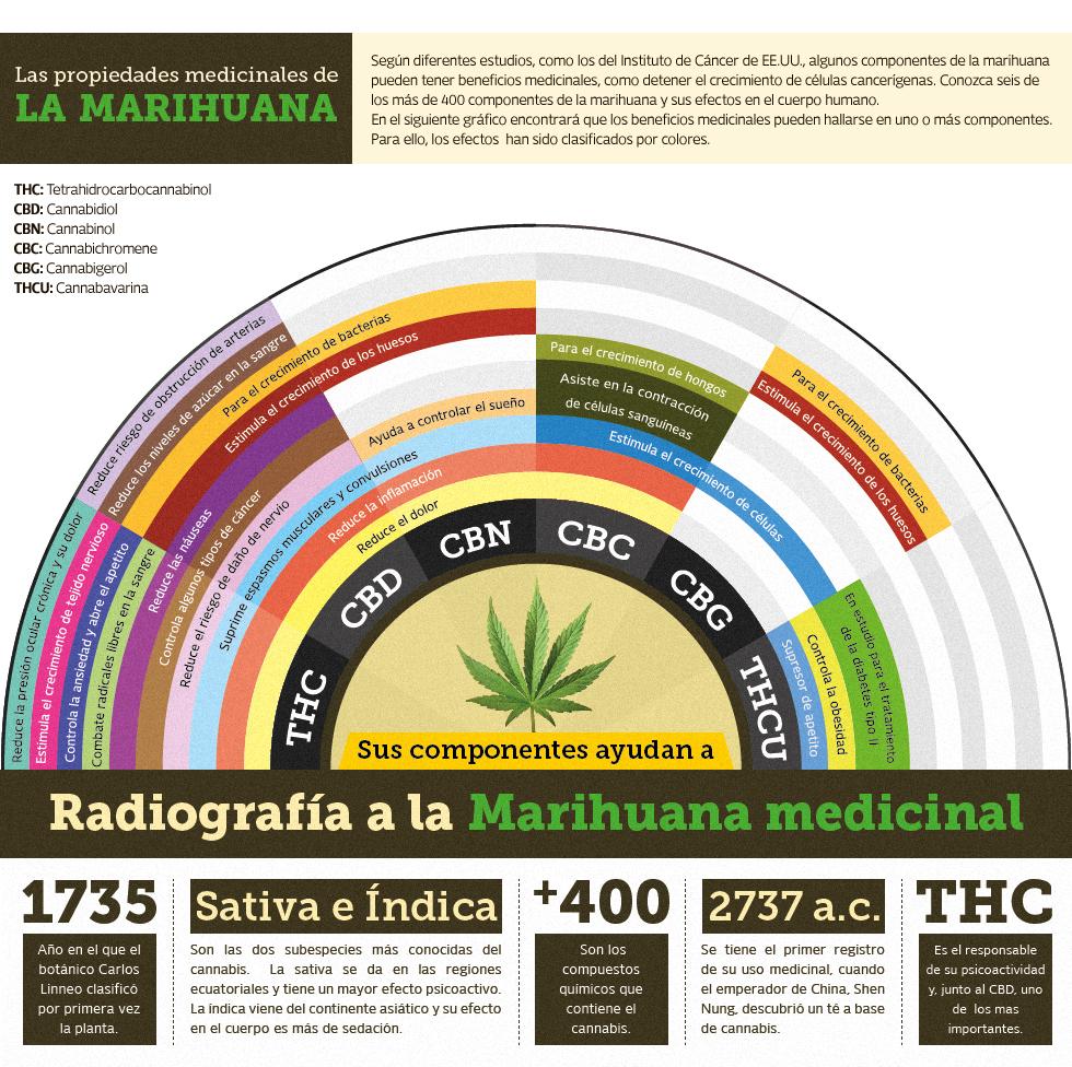 Marihuana Medicinal Grafico