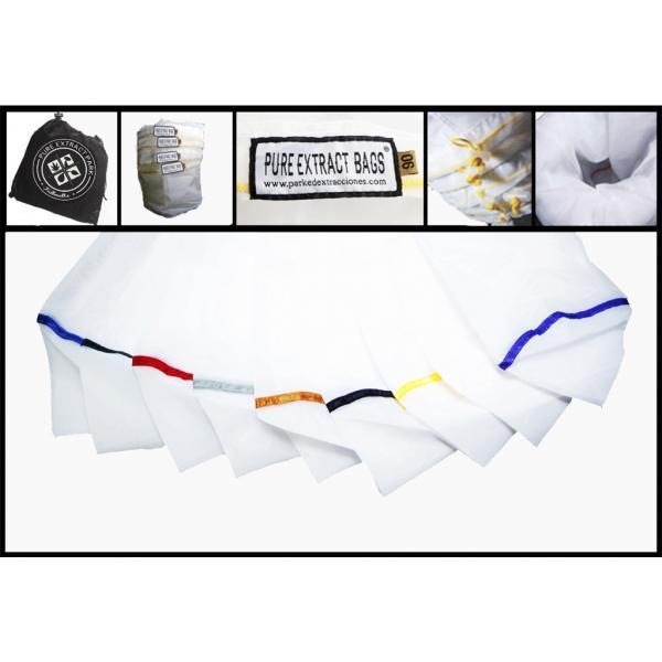 Pure Extract Bags Pro Line kit de 9 bolsas medianas 20 L (25-45-73-90-120-160-190-220 µ) de Parke de Extracciones