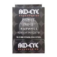 Caja 500 Rejillas de acero para pipas Bul-it, Raswell, King Amazed y Rok-it (16,5mm) | Red Eye