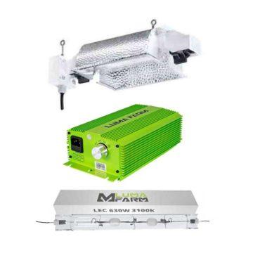 Kit de luz Balastro 630W Reflector doble LUMii® Solar CDM//LEC
