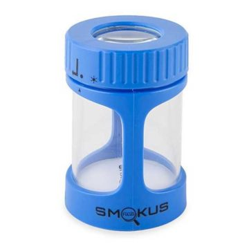 Stash Jar Bote Conservacion Luxe Luz Led Lupa Smokus Focus02