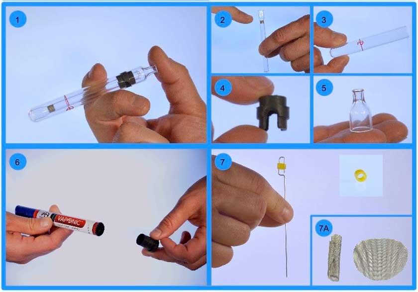 Vaponic Vaporizador Borosilicato Manual Hierbas Concentrados 05