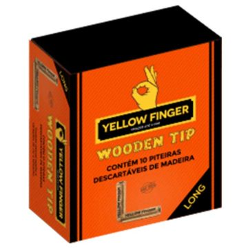Boquilla De Madera Largo Yellow Finger 10 Unidades 01