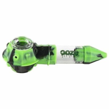 Ooze Bowser Silicone Glass Pipa Verde Negra 01
