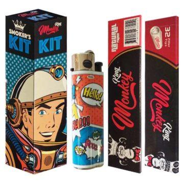Smokers Kit Papel Filtros Mechero Space Man