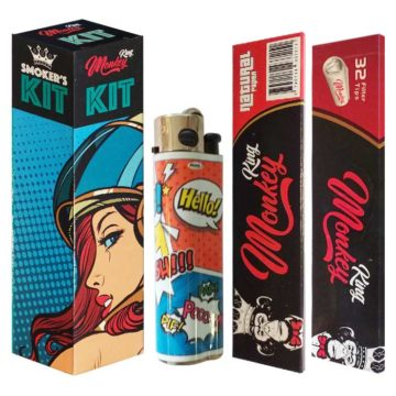 Smokers Kit Papel Filtros Mechero Space Woman