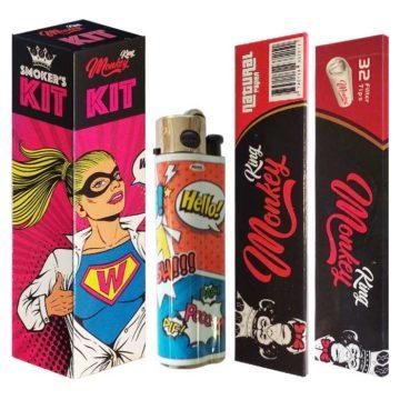 Smokers Kit Papel Filtros Mechero Woman