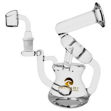 Waterpipe Concentrate Rig Sprinkler Recycler 8 Clear 01