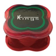 Grinder mini rojo 3 partes de policarbonato indestructible Ø40mm | Kings