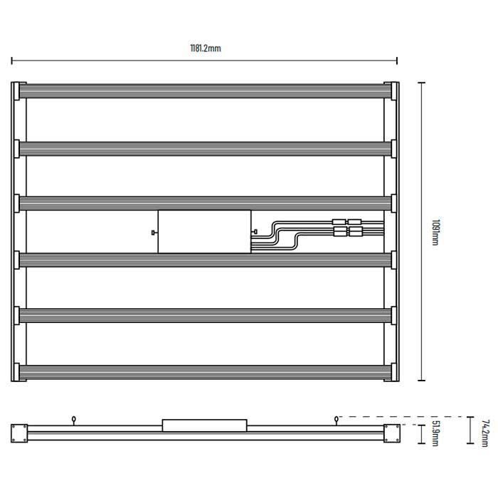 Sección Plana Lumatek ZEUS Pro 600 W