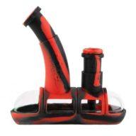 Ooze Steamboat pipa de agua en silicona y cristal negra roja | Ooze