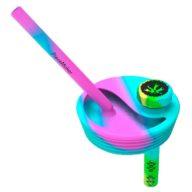 PieceMaker Kommuter Lid multicolor tapa convierte vaso en Bong | PieceMaker