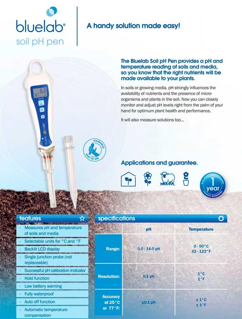 Bluelab Soil Ph Pen Medidor Ph Temperatura 03