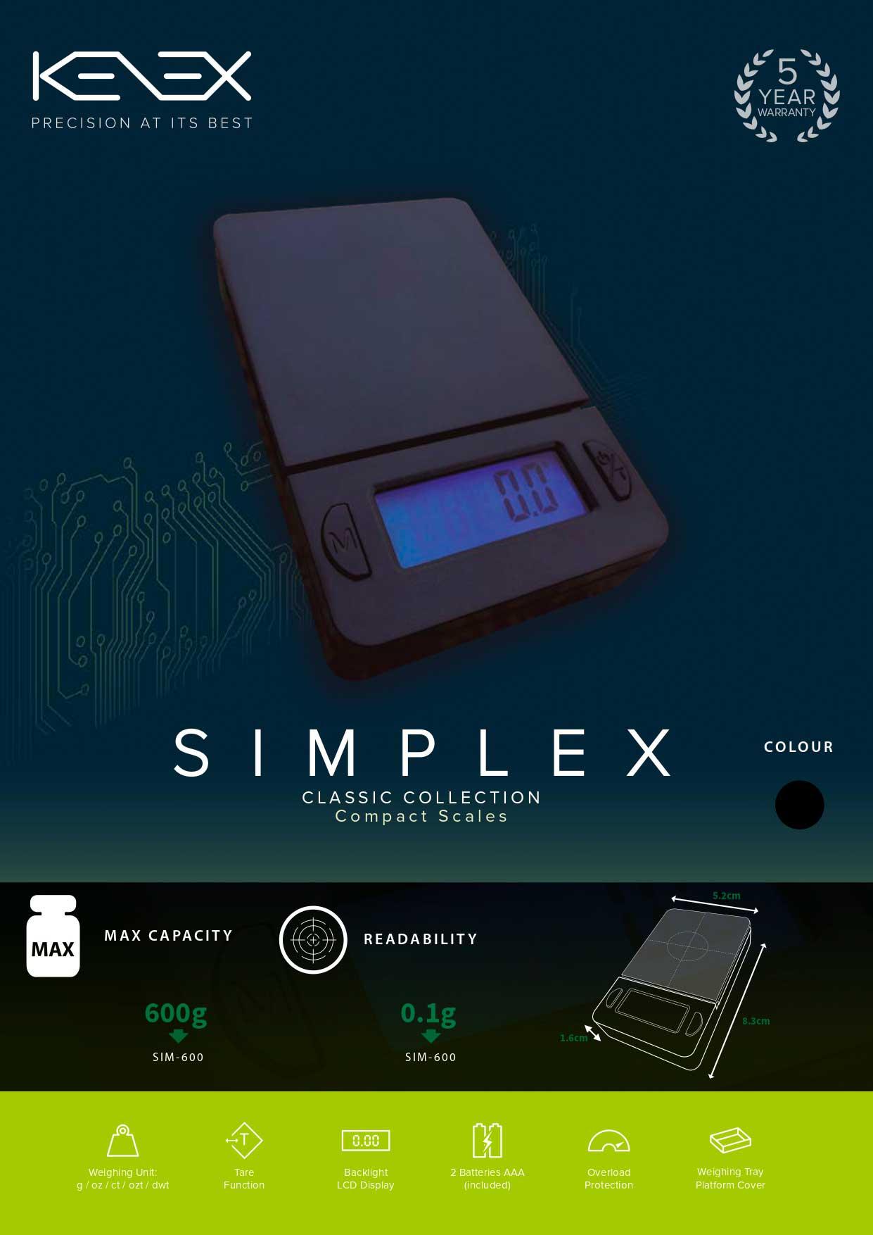 Kenex Simplex Scales Sim 100 05