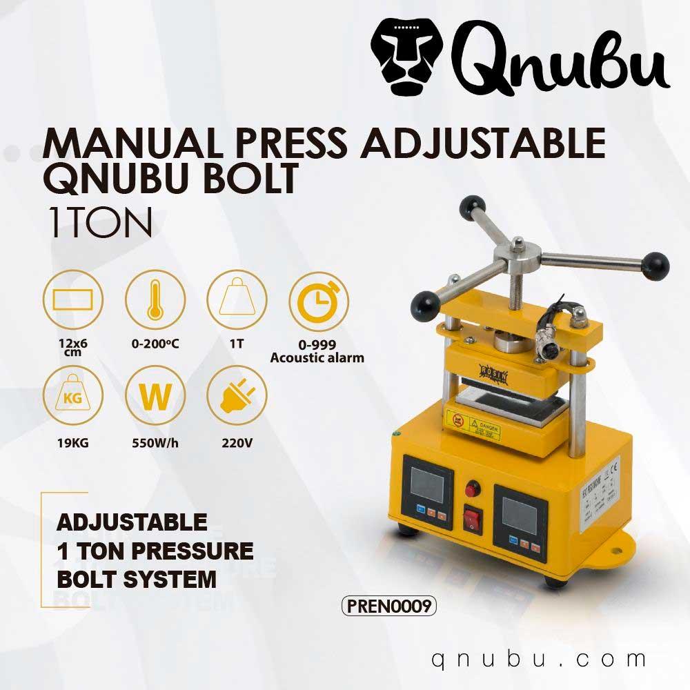 Prensa Qnubu Press Bolt Manual 1 Tonelada Placas 6X12Cm 02