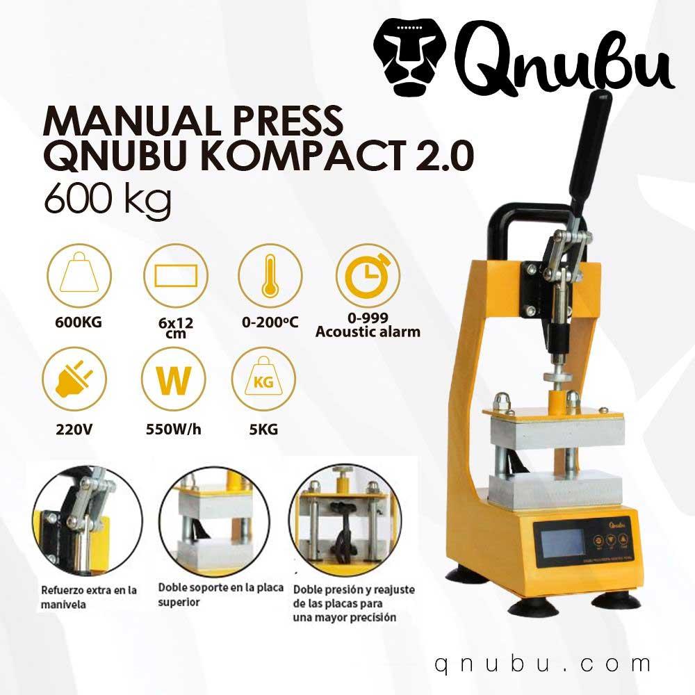 Prensa Qnubu Press Kompact 20 Manual 600Kg Placas 6X12Cm 02