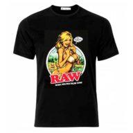 Camiseta Raw Girl negra de 100% algodón | RAW