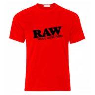 Camiseta Raw roja de 100% algodón | RAW