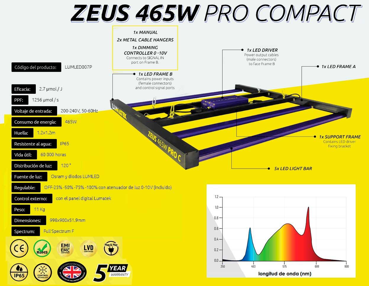 Lumatek Zeus Compact Pro 465W Iluminacion Led 05