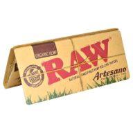 RAW Artesano Organic King Size Slim papel de fumar Unidad. 110x44mm | RAW