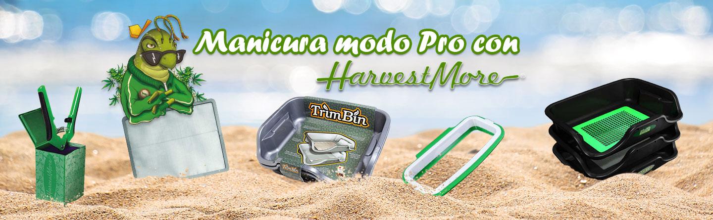 Diseño donde se ven 5 productos para realizar manicurado, de Harvest More