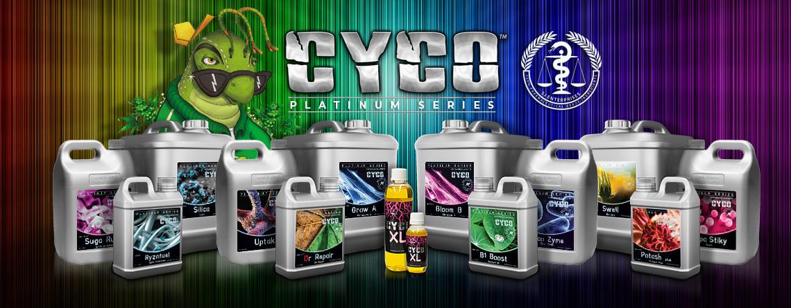 Lote de productos fertilizantes de la marca Cyco