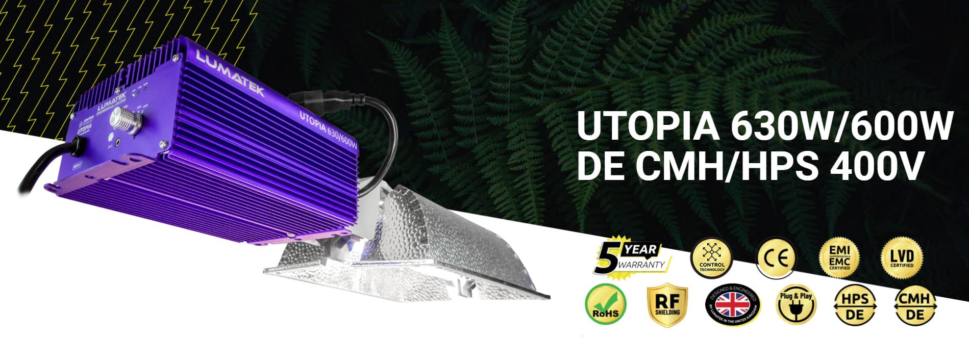 Lumatek Utopia 630W De Cmh Hps 400V 08